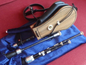 The Finished Keyless Set of Northumbrian Pipes