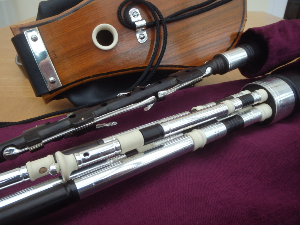 African Blackwood, Silver Plated Ferrules and imitation ivory mounts